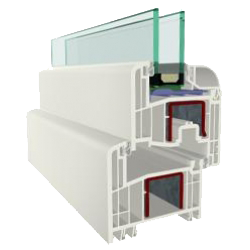 Tokosztott fix / nyíló ablak - 1800x1800mm