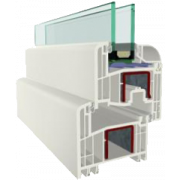 Tokosztott nyíló / bukó-nyíló ablak - 1800x1800mm